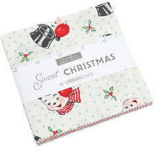 "Sweet Christmas Moda Charm Pack 42 100% Cotton 5"" Precut Fabric Quilt Squares"