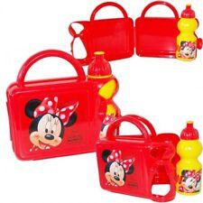 Brotdose & Trinkflasche Kindergarten Set KiTa Schule Disney Minnie Maus