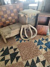 New ListingAafa Primitive 2 Wooden Stirrups Rustic Cowboy Horse Tack Saddle Antique