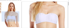 Seafolly Women's Bandeau Bikini Top Swimsuit with Pleated Detail size 10