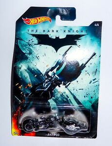 Mattel Hot Wheels 3 inch The Dark Knight Bat-Pod 4/6 3 Boxed Vehicle Batman DC