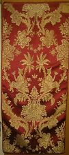 Antique Beautiful 19th C. French Woven Silk Chinoise Fabric Panel (9282)