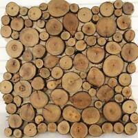 100pcs Natural Pine Wood Slices Round Disc Tree Bark Craft Circ. Chips Y0C8