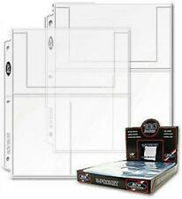 Box of 100 BCW 3-Pocket 4 x 6 Postcard / 4x6 Photo Album Pages binder sheets
