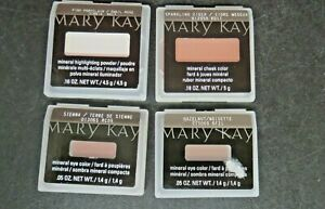 Lot of Mary Kay Cosmetics Mineral Eye Color(2) Cheek Color & Highlighting Powder