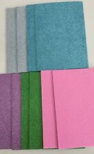 Glitter Foam Sheets x 10 Pack A5 Silver Blue Green Purple Pink Craft Child