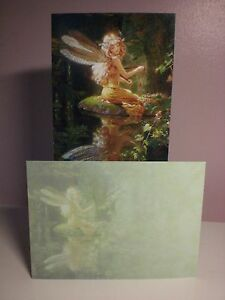 Tree-Free - Blank - A Fairy Setting looking at her reflection - Fairy Reflection
