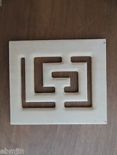 Carved Wood Panel w Feng Shui Grid
