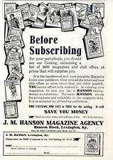 Hanson Magazine Lexington editorial publicidad c.1911
