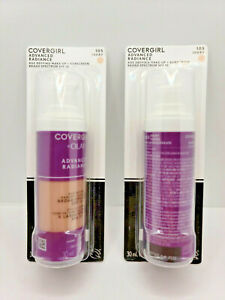 Lot Of 2 -Covergirl Advanced Radiance Age Defying Make-Up Ivory #105 ~ Ex02/22