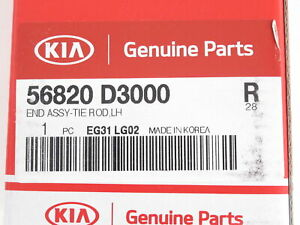 Genuine OEM Kia 56820 D3000 Driver Side Outer Tie Rod End 2017-2019 Sportage