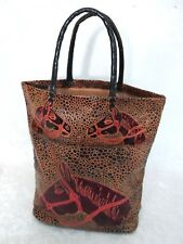 Horse Leather Decorated Bag Equestrian Double Strap  14 X 14 X 5