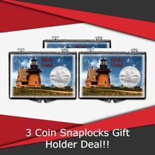 Coin Snaplocks Holder Rhode Island Lighthouse For Quarter Storage Deal of 3 Gift