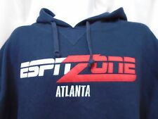 NWOT Men's ESPN ZONE Atlanta Blue Hooded Sweatshirt Size Medium