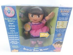 New DORA KNOWS YOUR NAME Interactive Toy Baby Doll Talks Sings RARE