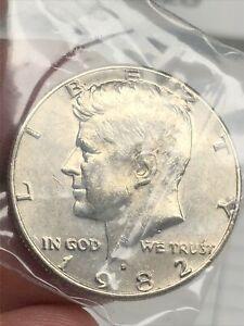 1982-D Kennedy Half Dollar,  Circulated but NICE ! 70