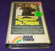 THE ISLAND OF DR. MOREAU VHS STAR VIDEO PAL ORIGINAL CASE BURT LANCASTER