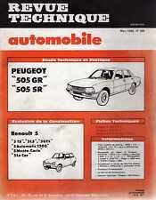 REVUE TECHNIQUE AUTOMOBILE N0398 1980 PEUGEOT 505 GR / SR RENAULT 5 TS / LS / GT