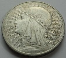 10 ZL ZLOTYCH QUEEN JADWIGA POLAND POLEN 1932 SILVER COIN LONDON MINT No 4