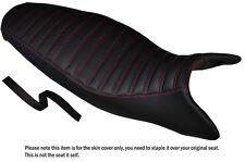 Diseño 3 Rojo Stitch personalizado se adapta a Triumph Street Triple 675 07-12 Doble Cubierta De Asiento