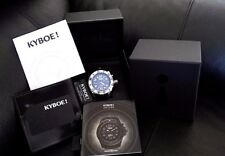 KYBOE! Power Silver Strength Stainless Steel Black Watch Free Priority Shipping!