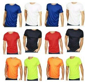 Mens Plain POLYESTER T shirt Crew Neck T-Shirts Tee Top Muscle TOP Shirts tee xa