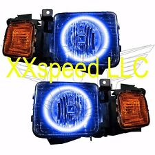 ORACLE Halo HEADLIGHTS Hummer H3 06-08 BLUE LED Angel Demon Eyes