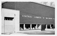 Passaic New Jersey~Central Lumber & Millwork Company~Postcard RPPC B&W