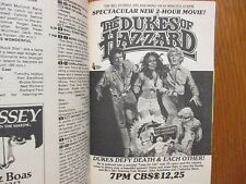Ap-1980 TV Guide(THE DUKES OF HAZZARD/BOSS HOGG/DAISY DUKE/MEL BLANC/DIANE LADD)