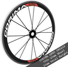 Corima Aero wheel decals stickers for 700c 45mm carbon bike bicycle road wheels