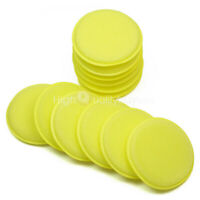12 x Yellow Car Wax Polish Applicator Pad Large Hand Soft Foam Sponge Pads