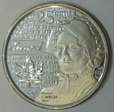 2013 Canada Secord Frosted 25 Cents BU