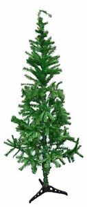 TRADITIONAL INDOOR ARTIFICIAL CHRISTMAS XMAS TREE GREEN / BLACK / WHITE 3-5-6FT