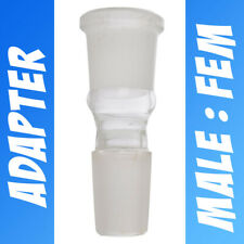 Lab Scientific Glass Ground Joint Adapter Extender 18mm Male to 18mm Female
