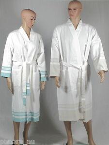 LYKIA Turkish Towel Peshtemal Bathrobe Pool Beach Dress Unisex Cotton  4 Sizes