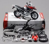 Maisto 1:12 Collection DIY Red Motorcycle Bike Assemble Model Toys F Child Gift