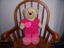 Build a Bear Workshop BABW vestidas Lil Vainilla Cub Oso Con Sonido