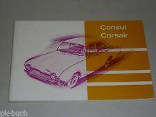 Betriebsanleitung Handbuch Ford Consul / Corsair, Stand 08/1963