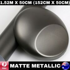 1.52M X 50CM DARK GREY / GUNMETAL MATTE METALLIC CHROME CAR VINYL WRAP FILM