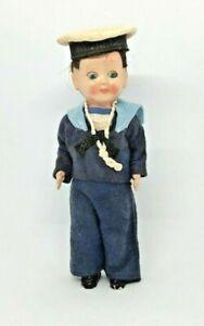 Vintage Celluloid Sailor Doll H.M. Royal Yacht Britannia 1963 Great Condition