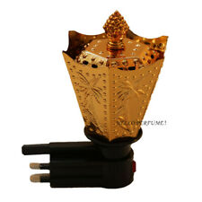 Electric Bakhoor Burner Brand New Wireless 3 Pin Plug For Oud Incense Gold Color