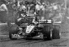 Mika Hakkinen by Mikko Heiskanen, Mika in the McLaren MP4/15
