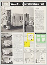 Bauplan Gartenhaus / Wochenendhaus / Holzhaus - Original aus den 60er Jahren