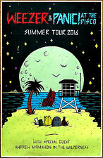 WEEZER | PANIC AT THE DISCO 2016 Summer Tour Ltd Ed New RARE Poster! White Album
