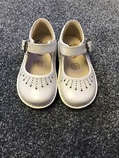 clarks infant 4f baby girl shoes White Patent Immaculate