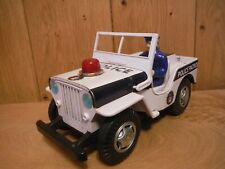 Nomura TN Toys Japan tinplate and plastic battery operated Jeep non working (042