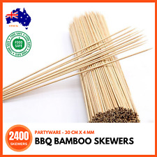 Pack of 50pcs Bamboo Skewer Barbeque Stick 4mm X 12 Inch Length Kd13663