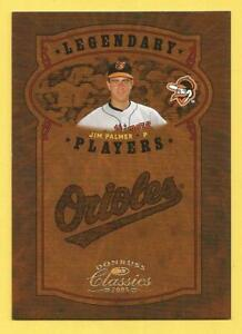 JIM PALMER 2005 Donruss Classics Legendary Players Gold #20 Orioles #d 48/75