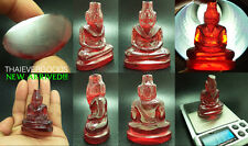 111 g REAL NAGA GEM RED COLOR CARVED RUSI SIER ENHANCE GOOD FORTUNE THAI AMULET