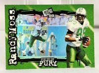 1998 Press Pass Fields of Fury RANDY MOSS Rookie Football RC Card #FF4